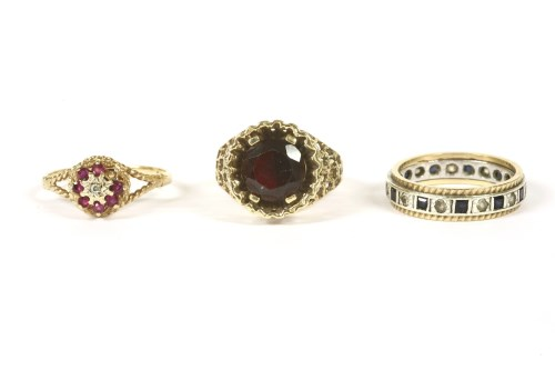 Lot 47-A 9ct gold single stone garnet ring