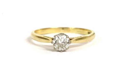 Lot 13-A gold single stone diamond ring