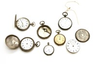Lot 67 - A collection of silver pocket watches