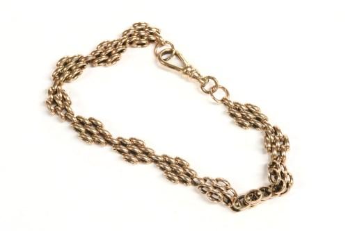 Lot 18-A 9ct rose gold lozenge shaped panthera bracelet