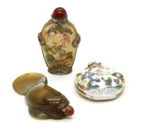 Lot 97-Three Oriental snuff and scent bottles