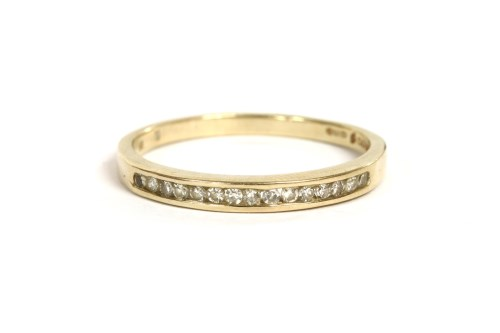 Lot 42-A 9ct gold diamond half eternity ring