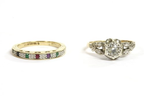 Lot 48-A 9ct gold single stone cubic zirconia ring