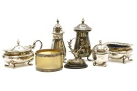 Lot 95-A collection of silver items