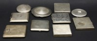 Lot 94-A collection of ten silver compacts to include a 1941