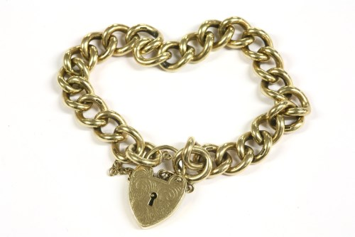 Lot 24-A 9ct gold curb link chain bracelet