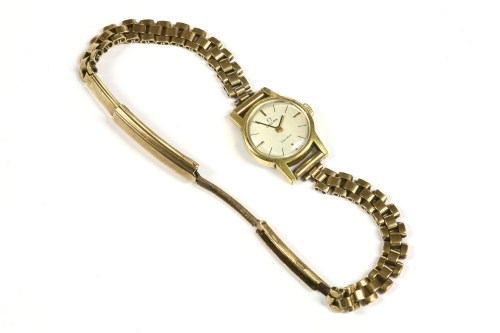 Lot 18-A ladies gold plated Omega Geneve mechanical bracelet watch