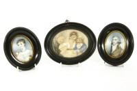 78 - Two miniature portrait watercolours
