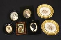 Lot 79 - A collection of portrait miniatures