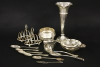Lot 61-A collection of silver items