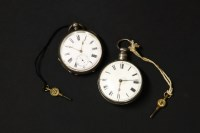 Lot 41-A late 18th century silver cased pocket watch