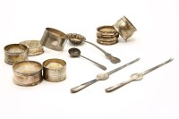 Lot 63-A collection of silver and silver plate