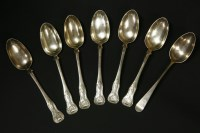 Lot 73-A collection of Georgian spoons