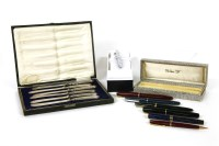 Lot 72-A collection of Parker and other fountain pens