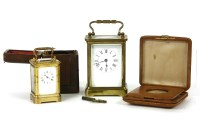 Lot 91 - A four glass carriage clock