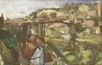 Lot 5-*John Aldridge RA (1905-1983)  'IRONBRIDGE