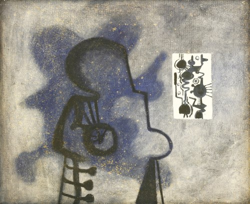 Lot 287 - *David Carr (1915-1968) MAN AND MACHINE Oil on canvas 76 x 91cm  *Artist's Resale Right may apply to this lot.