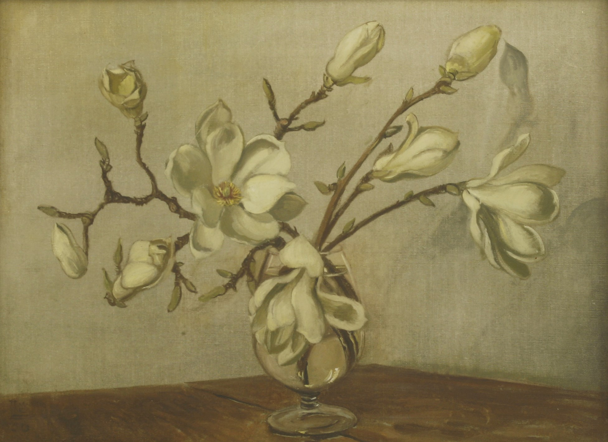 Lot 35 Modern British School Magnolia Blossom In A