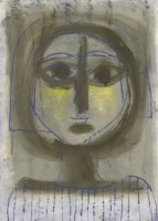 Lot 9-*Walter Hoyle (1922-2000) 'BLUE HEAD' Etching and aquatint