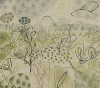 Lot 8-*Colin Wilkin (b.1971) THE GARDEN Indistinctly inscribed in pencil