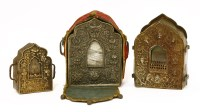 Lot 84A - A Tibetan silver gau shrine