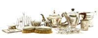 Lot 86A - A silver hot water pot and cover