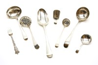 Lot 74-A collection of George III and later silver flatware