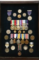 Lot 83A - A father and son group of WWI and WWII medals