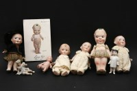 Lot 75-A Bisque fums-up doll
