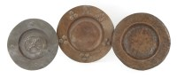 Lot 18-Three Arts and Crafts copper dishes