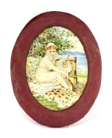 Lot 5-An Aesthetic pottery plaque