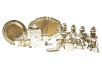 Lot 67-A collection of silver and silver plated items