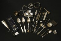 Lot 65 - A quantity of silver items