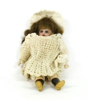 Lot 76 - A Victorian doll of miniature proportions