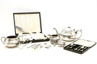 Lot 72A-A collection of silver items