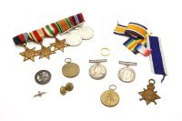 Lot 81A - A long service medal awarded to Frank Page for his services on HMS Vivid together with a First World War trio awarded to Frank Page