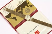 Lot 58 - A ladies 9ct gold Omega mechanical bracelet watch