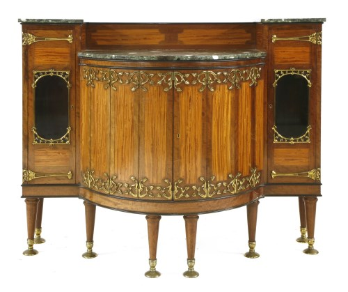Lot 8-A rare mahogany and satinwood cabinet