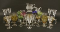 Lot 56-A collection of glassware including