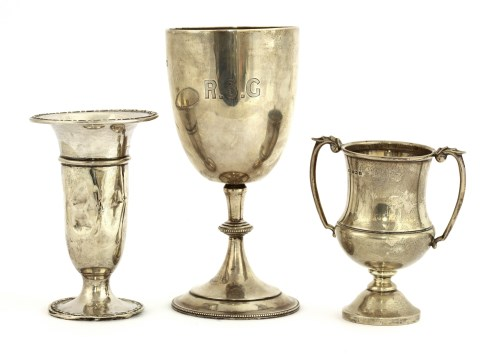 Lot 43 - An Edwardian silver goblet
