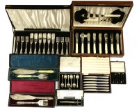 Lot 55-A mixed lot of electroplated fish servers