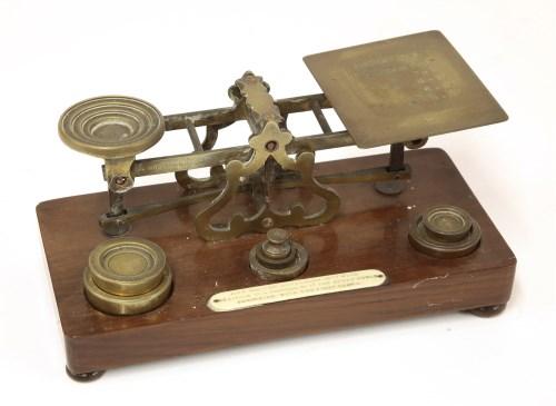 Lot 39-A set of Samson Mordan brass postal scales