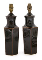 Lot 61-A pottery baluster vase table lamp