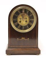 Lot 73A-An Edwardian strung mahogany mantel clock