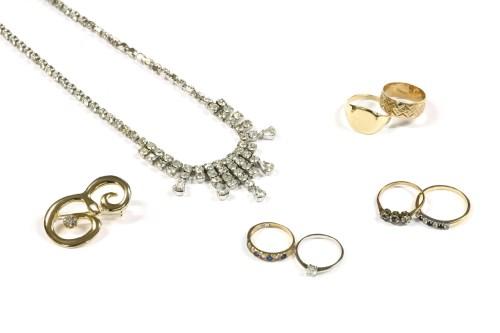 Lot 25-A gentlemen's 9ct gold plain cushion shaped signet ring
