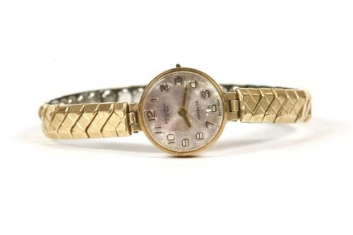 Lot 5-A ladies 9ct gold Excalibur Incabloc mechanical watch