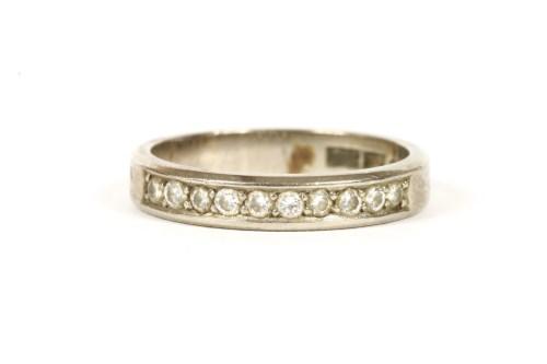 Lot 24-A Swedish white gold diamond half eternity ring
