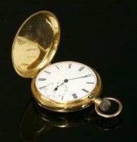 Lot 579-A gold Hunter side wind Swiss pocket watch