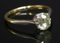 Lot 46-A single stone diamond ring