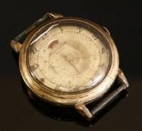 Lot 595-A gentlemen's 9ct gold Jaeger LeCoultre Automatic strap watch